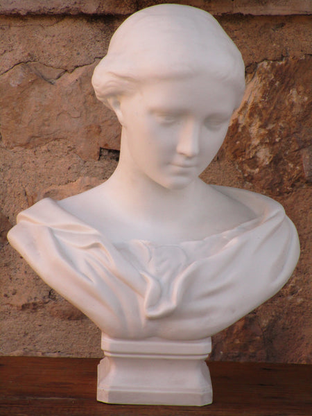 French marble bust female