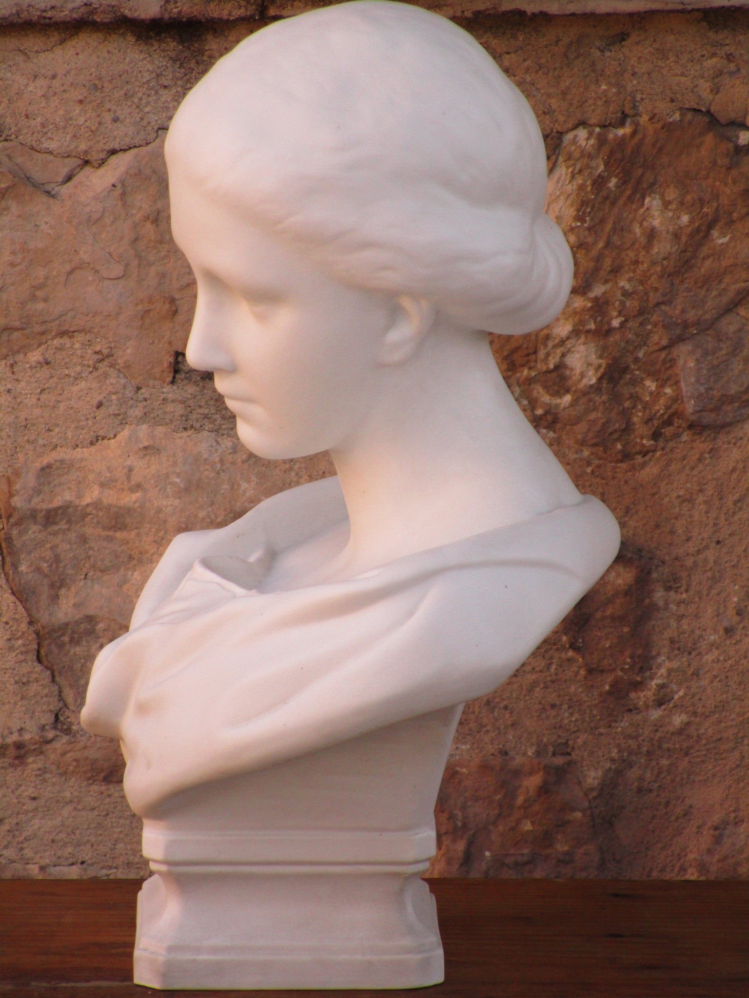 side French marble bust