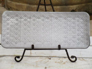 Rectangle plate with floral argyle pattern bespoke french
