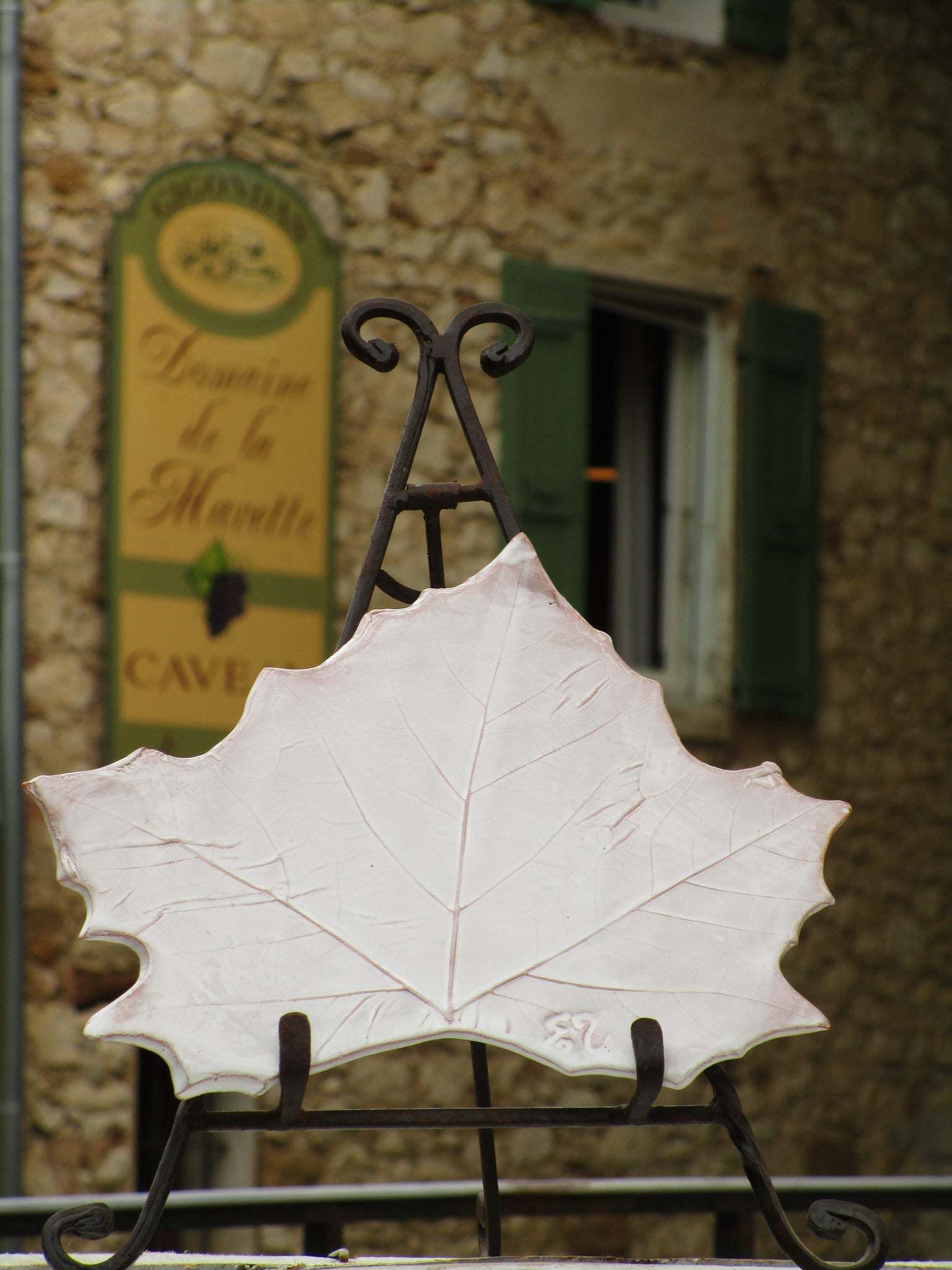 french bespoke plane tree leaf plate