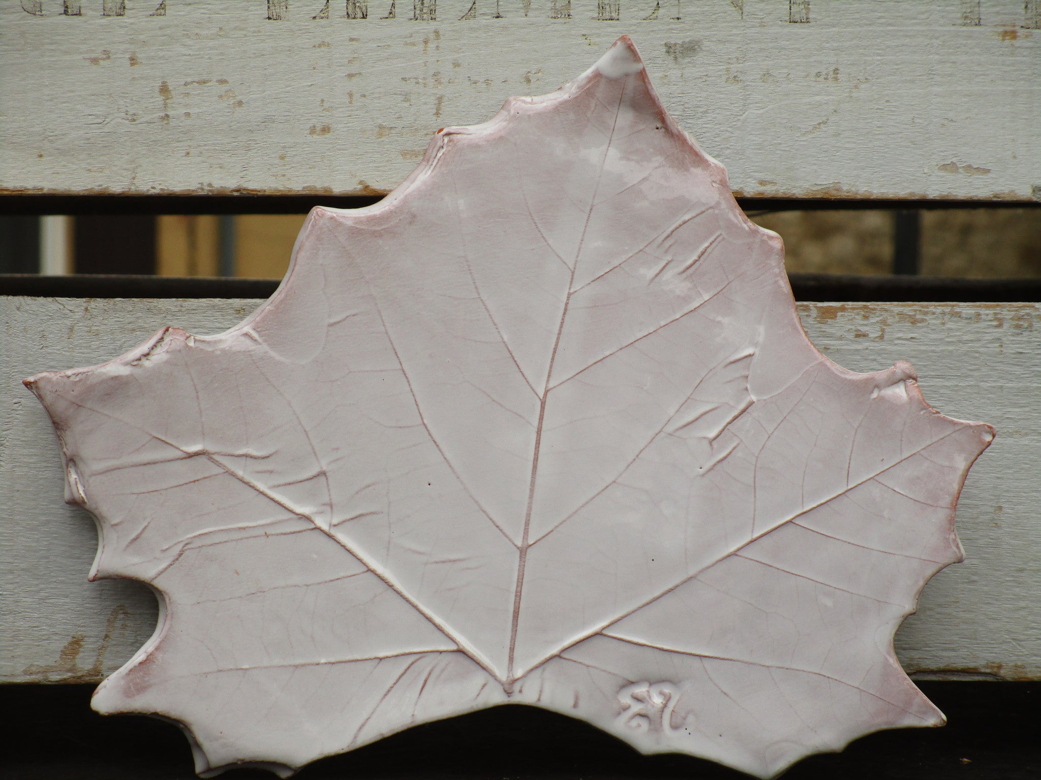 french hand made plane tree leaf platter