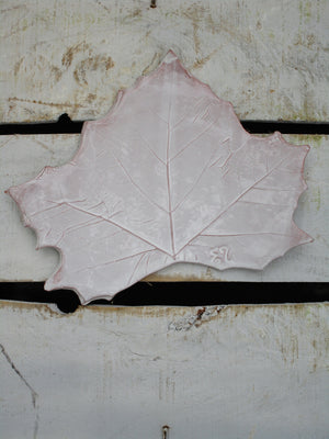 french hand made autumn leaf platter