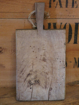 front rustic french cutting board with handle