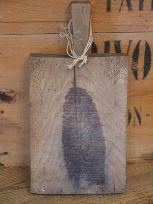 back rustic french chopping board