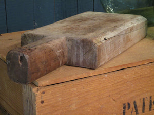 side view chunky rustic bread board french 1900s
