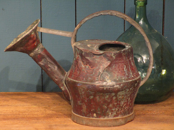 side view exceptional 18th century copper watering can