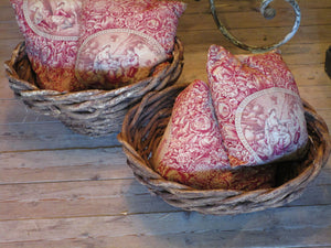 top pair of mid century french woven baskets farmhouse décor