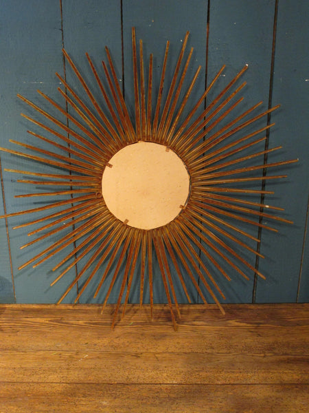 back of 1950 french sunburst mirror
