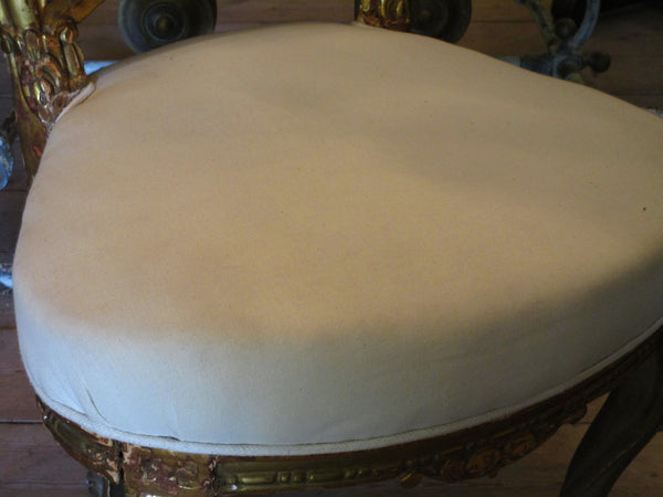 seat detail white upholstered french louis xv chair
