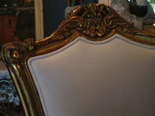 gilt wood detail gold chair carved frame with floral motifs