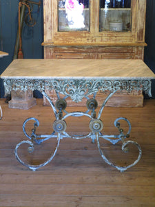 19th century french marble top butchers table