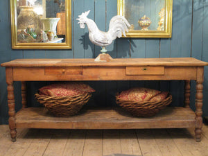 Rustic farmhouse 19th century french drapers table