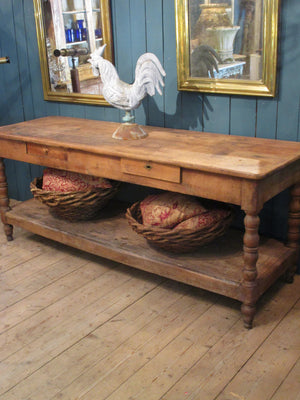Rustic french drapers table