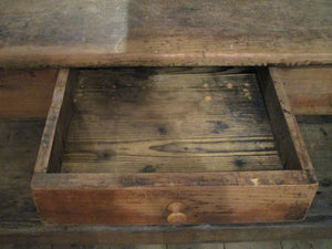 drawer detail - 19th century draper boutique farmhouse table