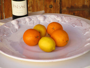 Large round platter – autumn harvest