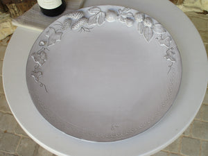 Large flat platter – autumn harvest