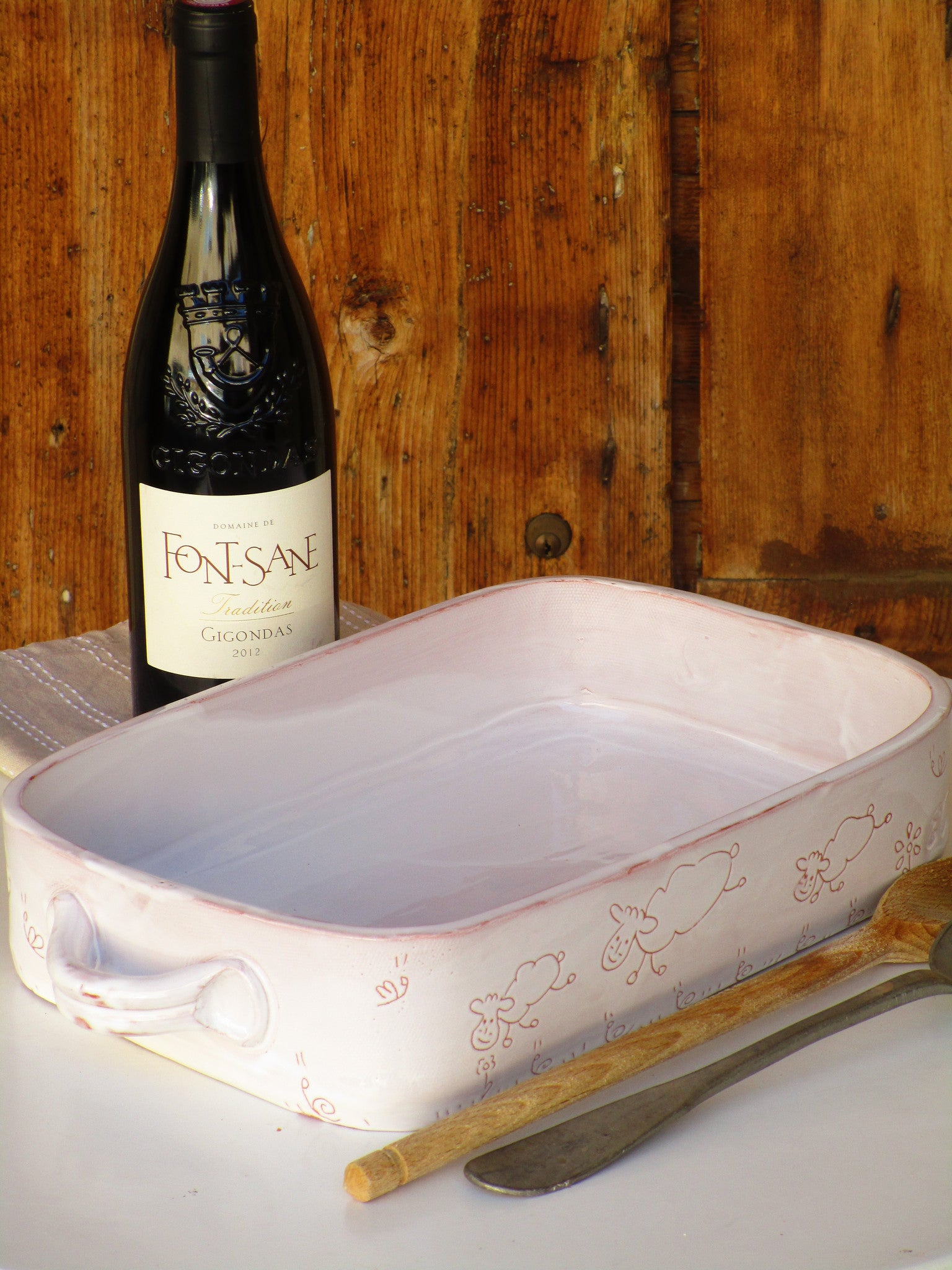 Rectangular baking dish - the French countryside