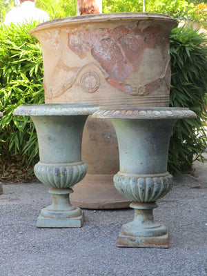 Pair of French Medici urns