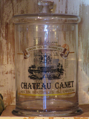 Pair of French glass jars