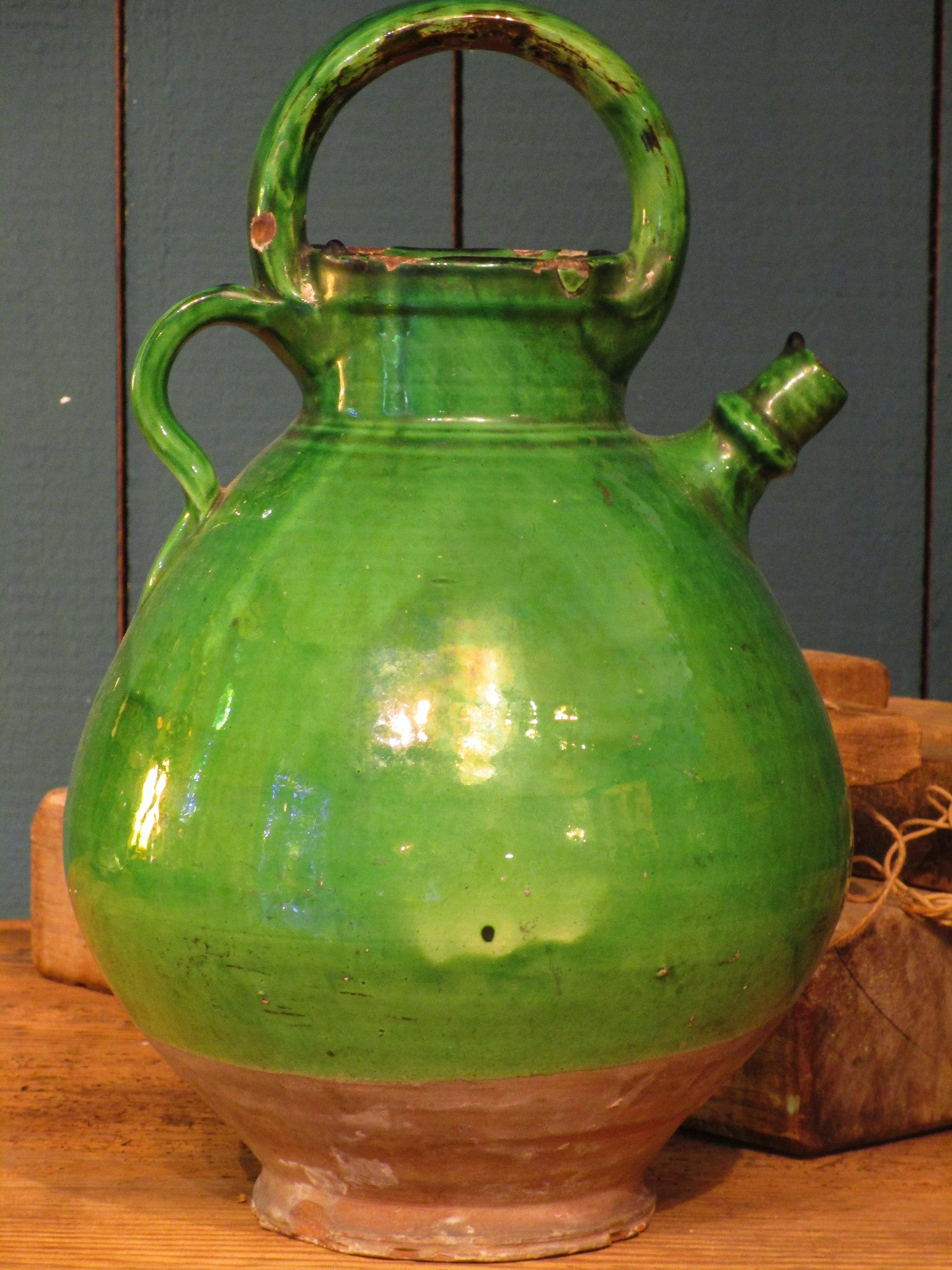 Green jug from Marseille