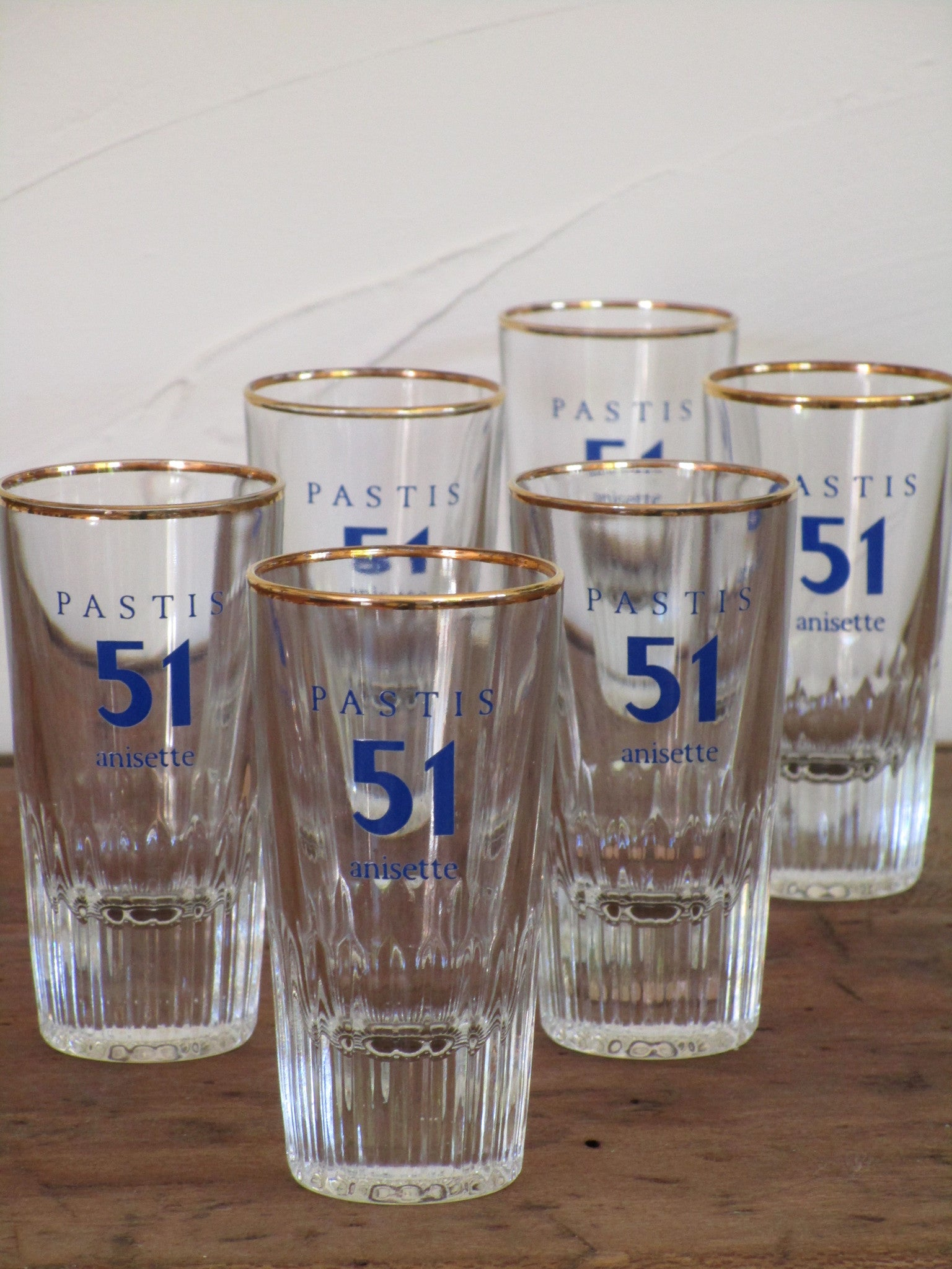 Pastis glasses - set of six