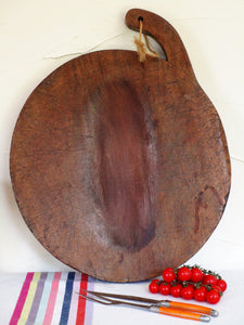 Large round French carving board - walnut