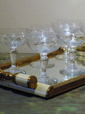 Set of twelve 19th century champagne glasses