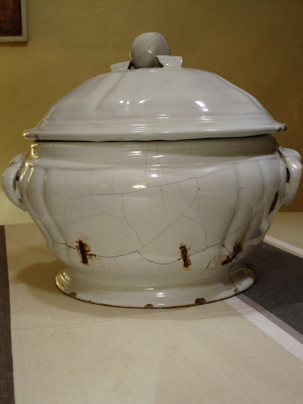 18th century French soup tureen - ironstone