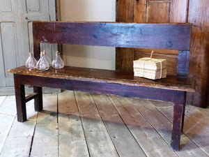 Rustic 19th century French bench seat