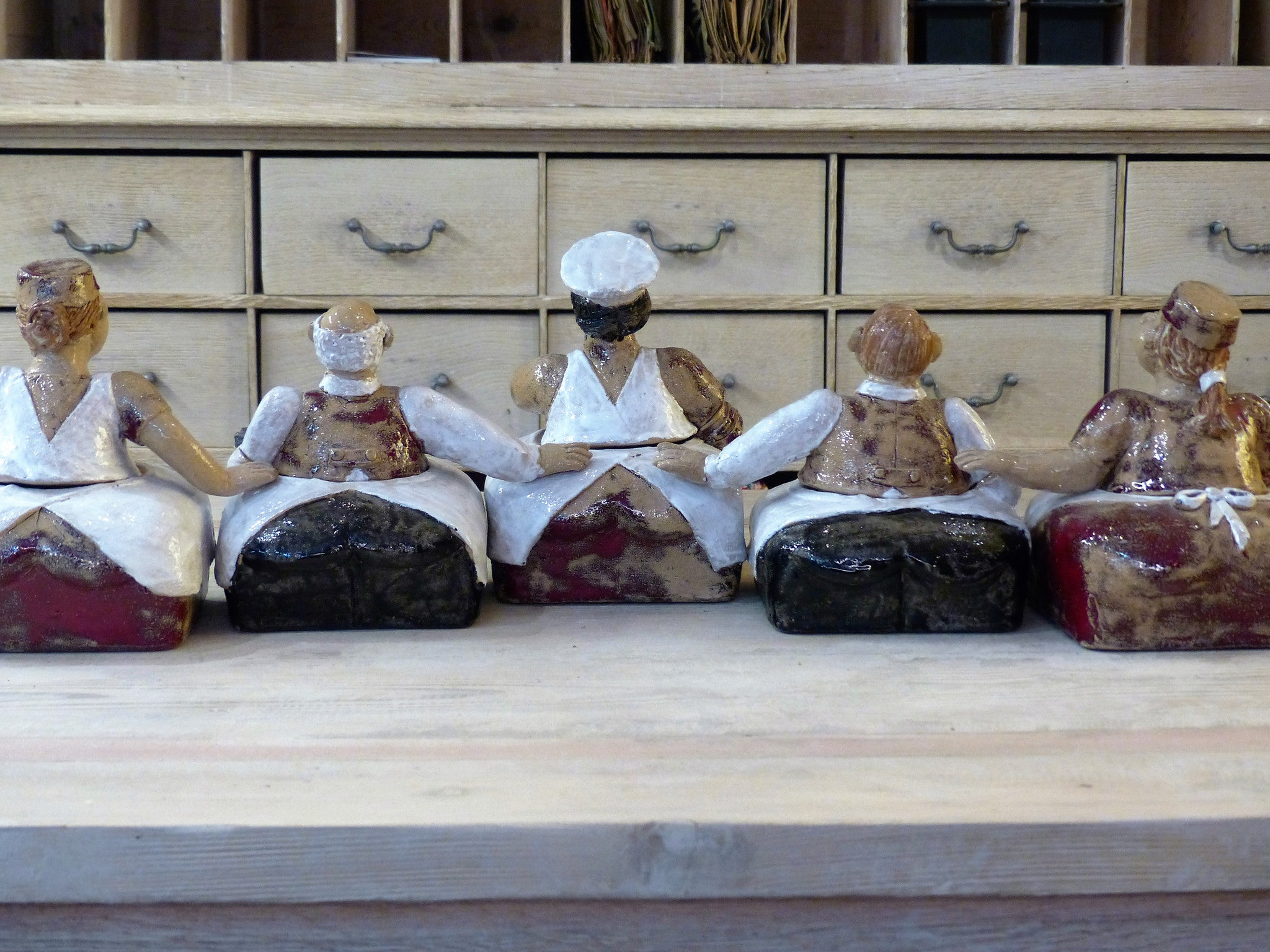 """L'Auberge Rouge"" set of five sculptural containers - by order"