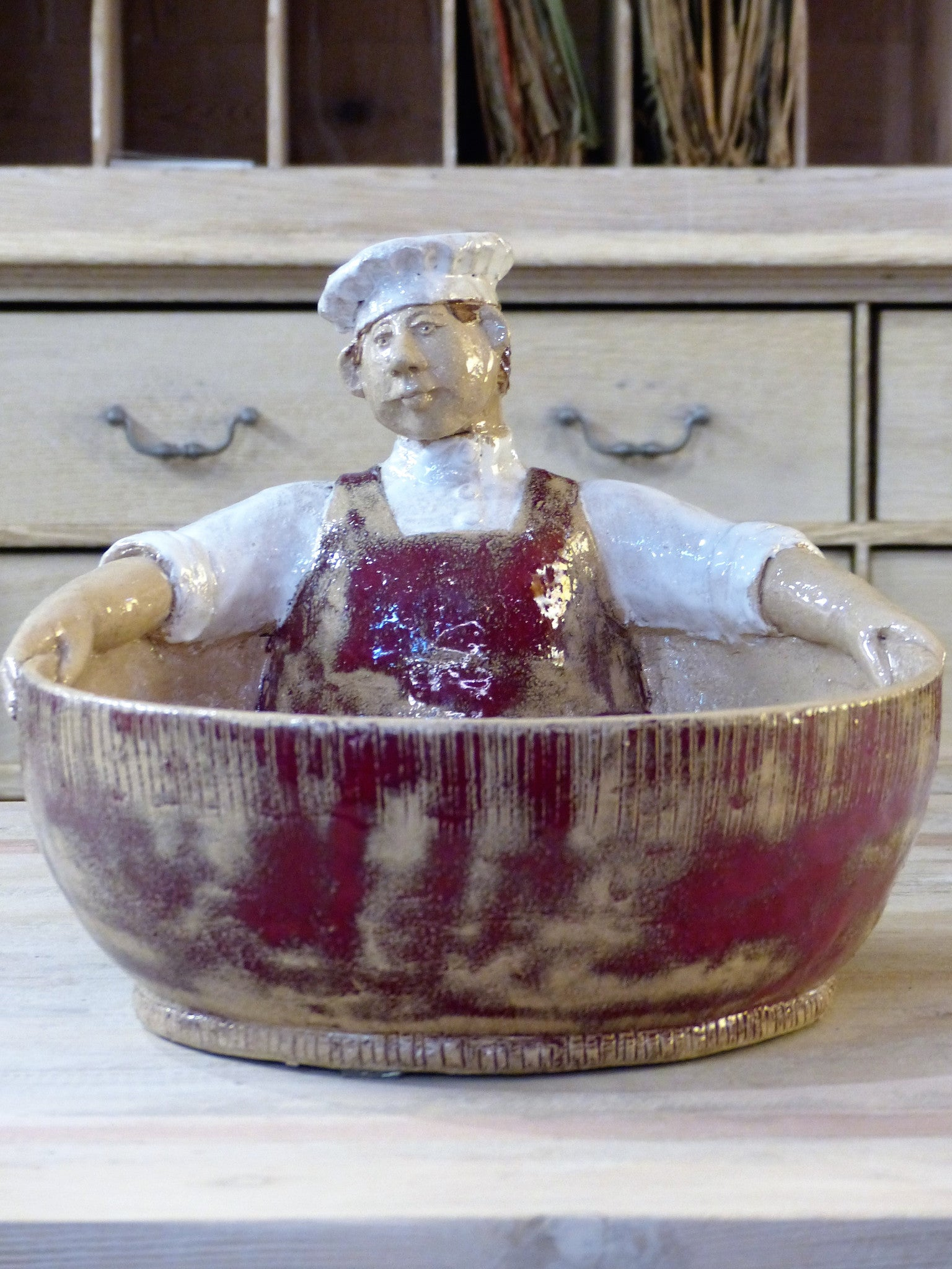 """œLouis le chef""? sculptural salad bowl"