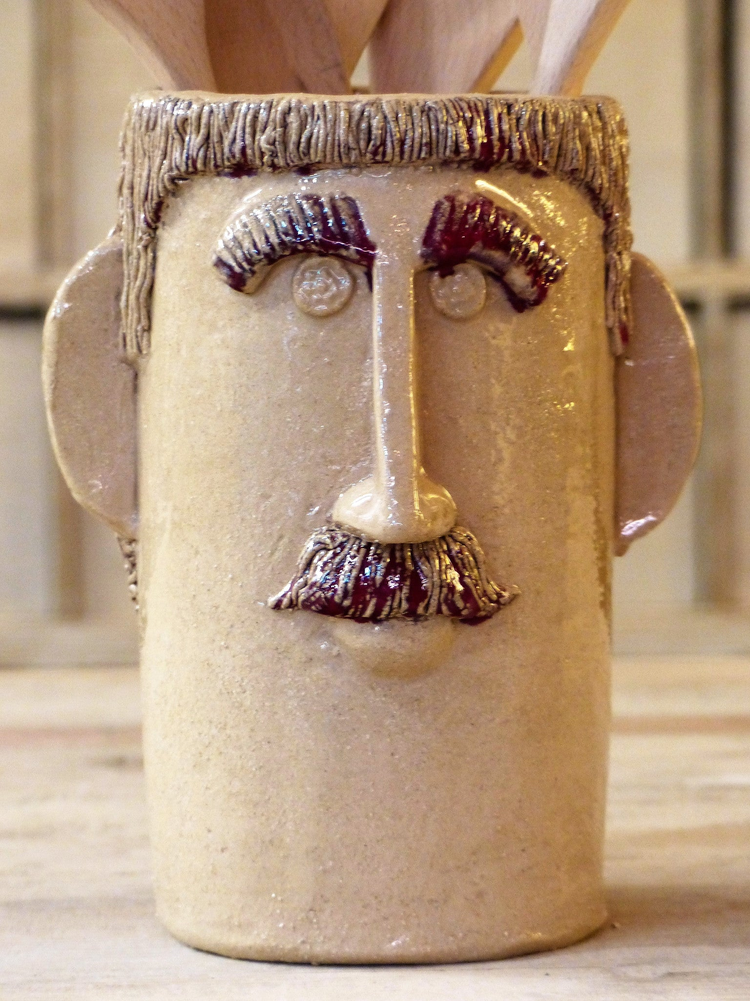 """Monsieur Frédéric"" sculptural utensil holder - by order"