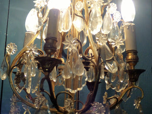 1940's French wall mounted chandelier