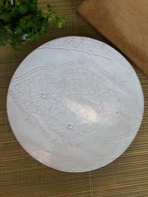 French artisan pottery bespoke platter white wedding gift idea