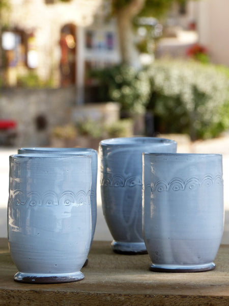 French artisan pottery coffee cups