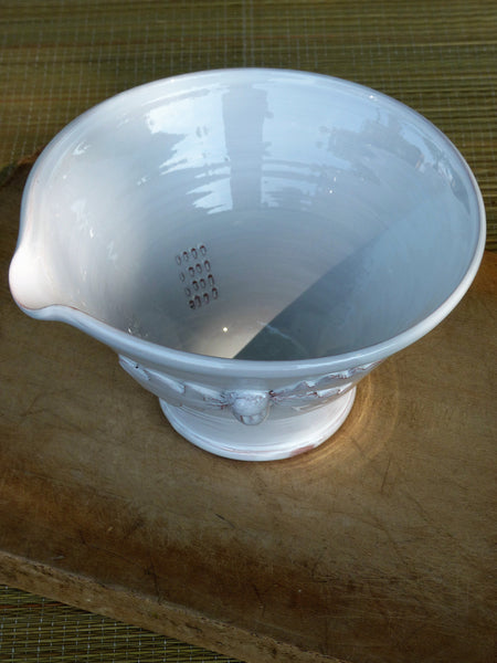French artisan pottery salad bowl