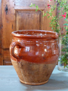 French provincial vintage pottery olive pot