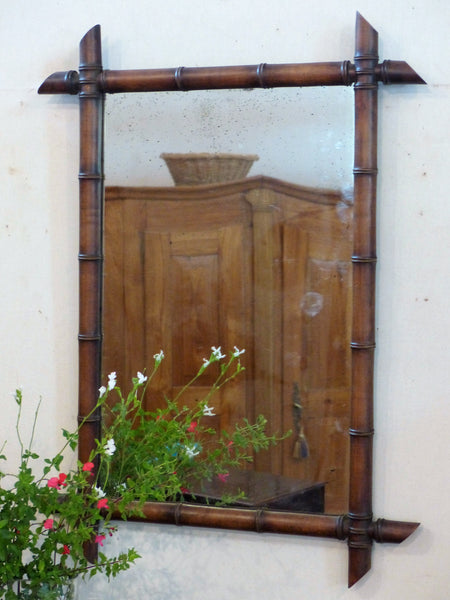 French bamboo style mirror