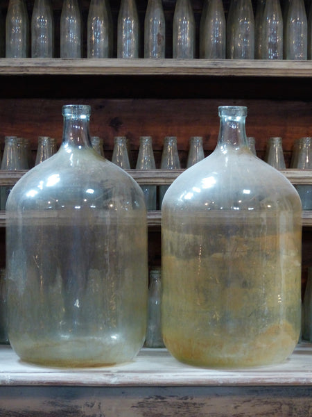 Large French glass carboy demijohn