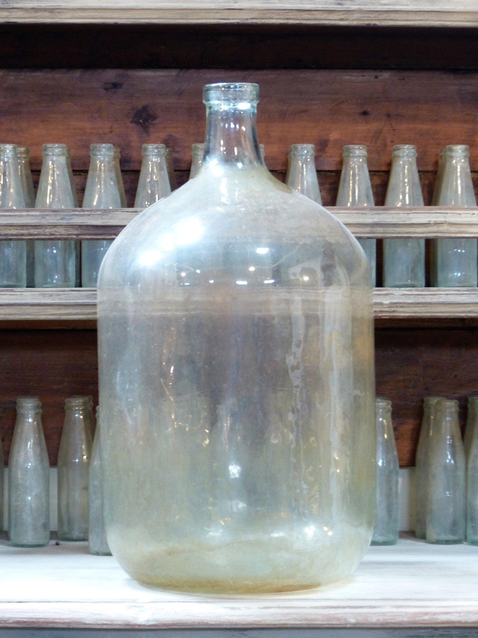 Large French glass carboy demijohn glassware