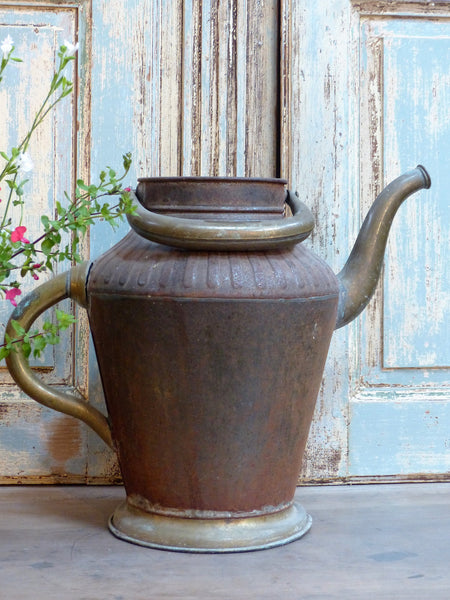 French copper watering can antique