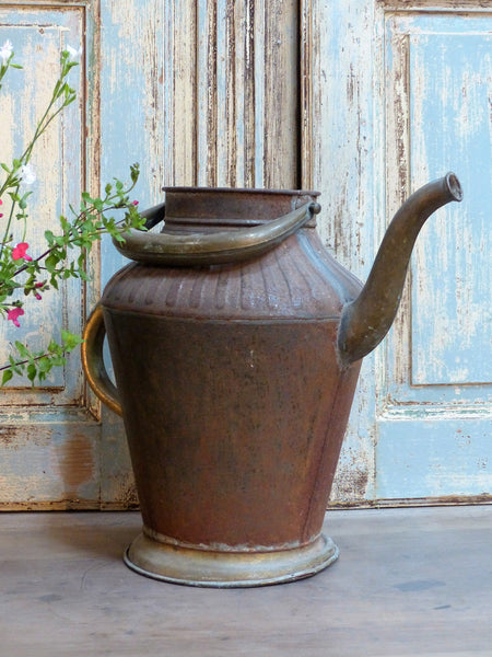 French copper watering can vintage