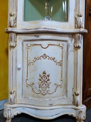 French corner cabinet storage glass door