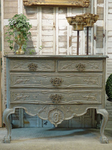 19th century French grey commode