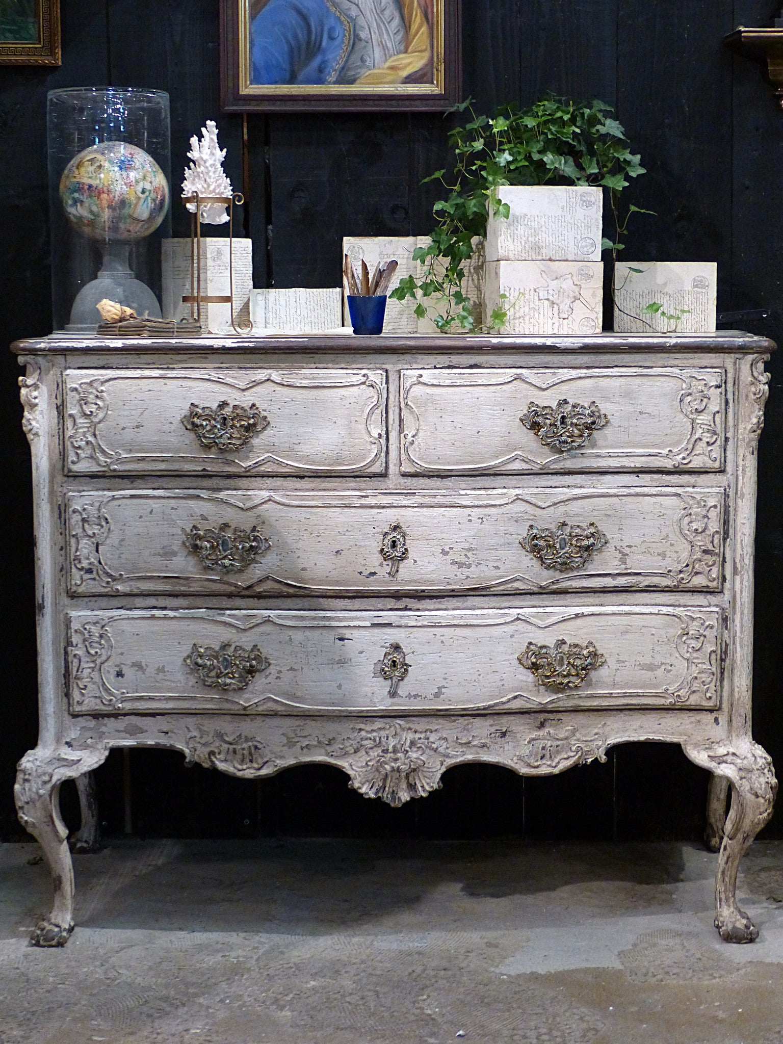 19th century grande commode with four drawers