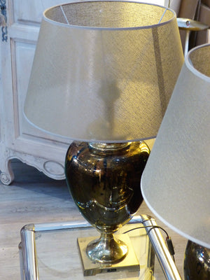 Pair of mid century French lamps gold fast delivery