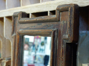 Late 17th century French mirror rustic modern farmhouse décor