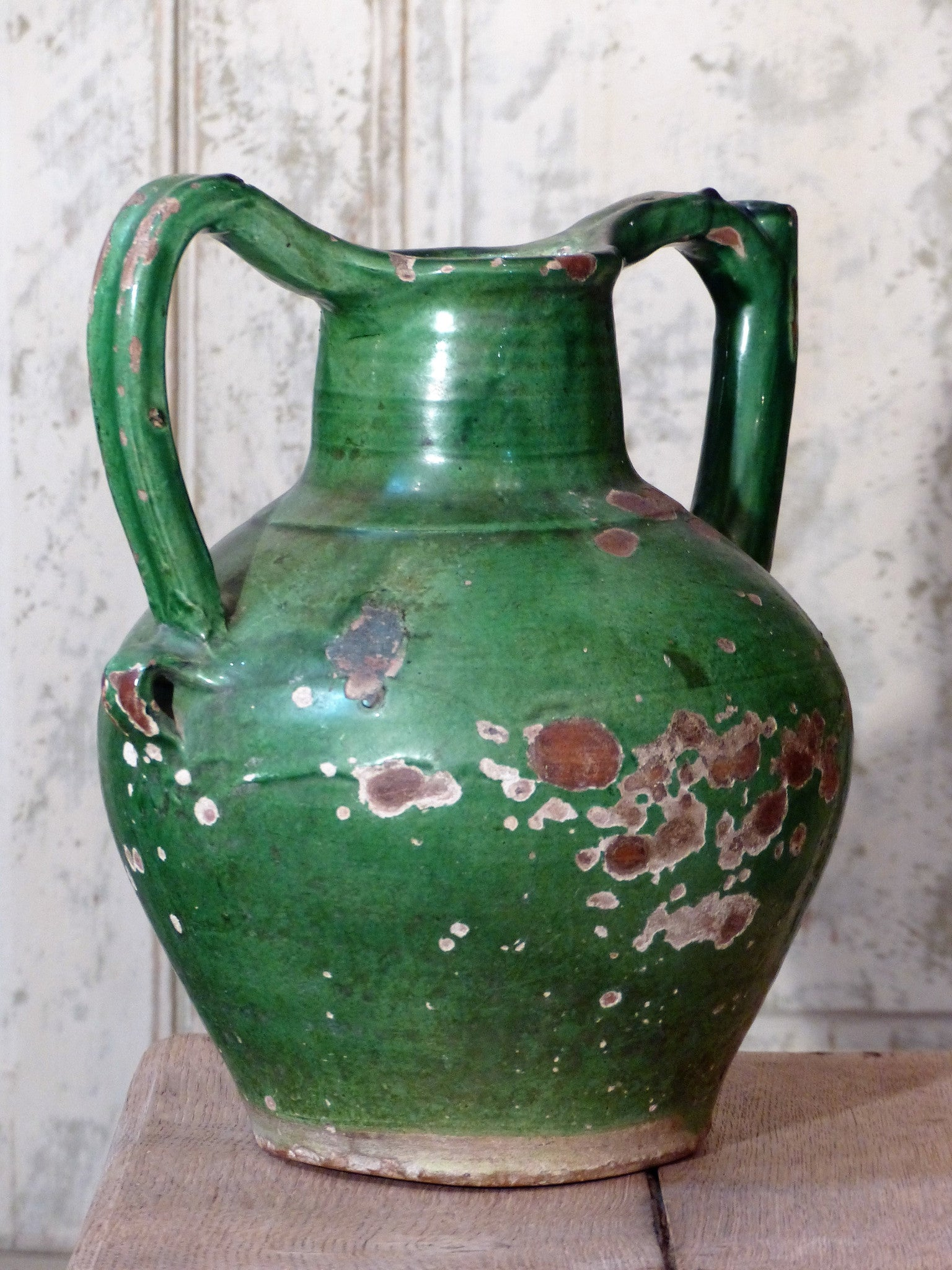 Vintage French pottery water jug