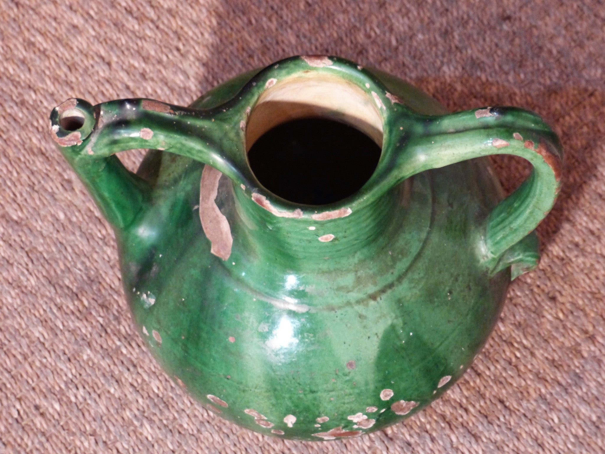 Vintage French pottery water pitcher last minute wedding gift idea fast delivery