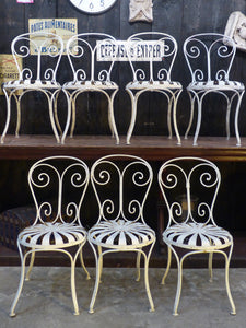 Set of French garden chairs